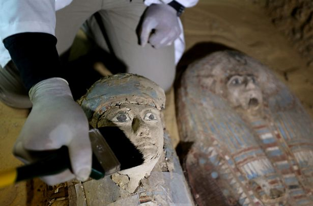 The two sarcophagi uncovered at the Tomb of Behnui-Ka and Nwi