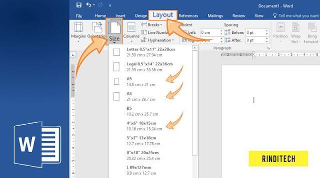 Cara Merubah Ukuran Kertas di Word Microsoft Office