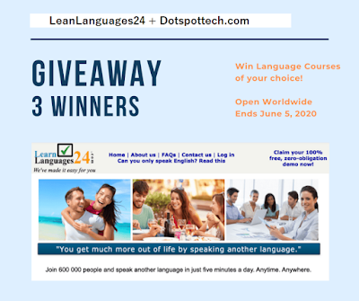 Learnlanguage24.com and dotspottech.com giveaway
