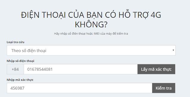 Cách kiểm tra Sim, điện thoại của bạn có hỗ trợ 4G Viettel hay không