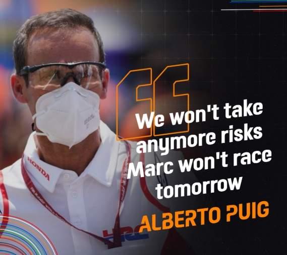 Marc Marquez Absen Race MotoGP Andalucia 2020