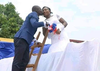 Lovely Couple Use Tipper For Their Wedding In Akwa Ibom State. Photos