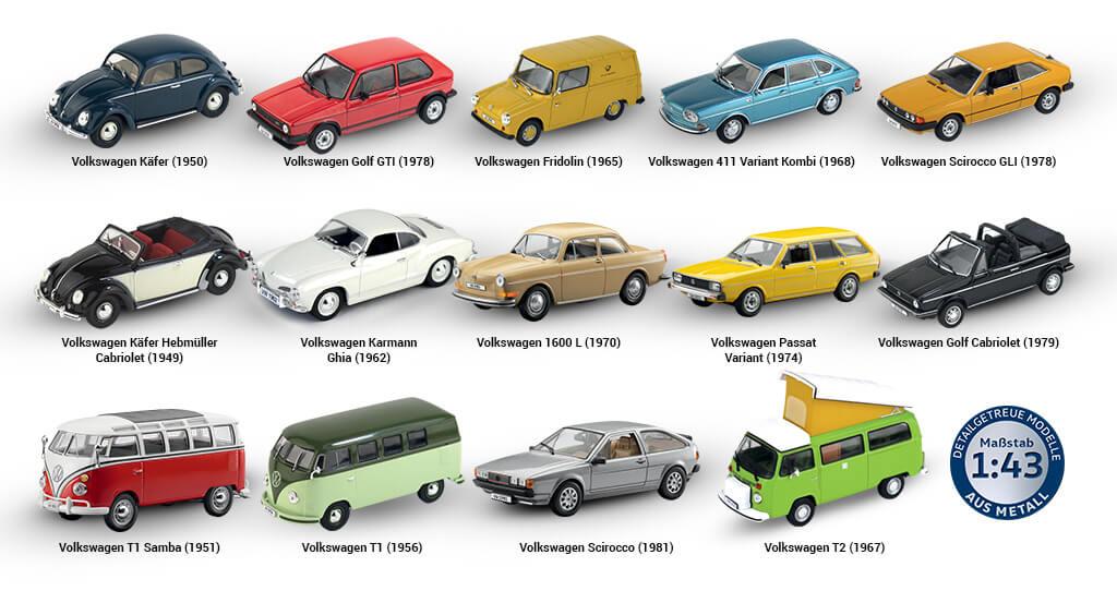 volkswagen offizielle modell sammlung, vw offizielle modell sammlung