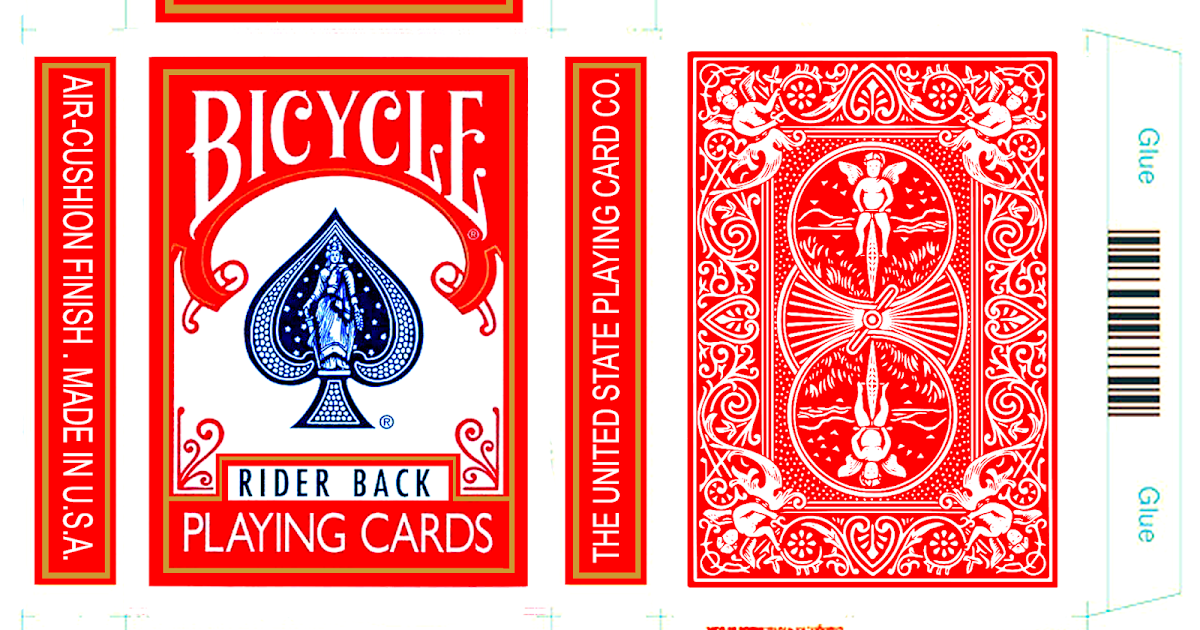 Bicycle Playing Card Box Template Red