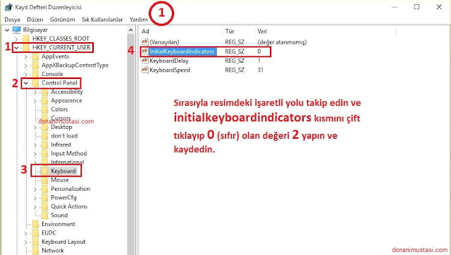 windows-10-acilista-numlock-acik-olsun