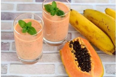 Papaya Oat Smoothie