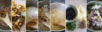 Zubereitung Risotto mit Heidelbeeren und Pfifferlingen