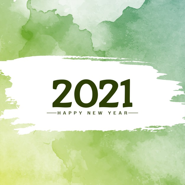green-watercolor-new-year-pictures