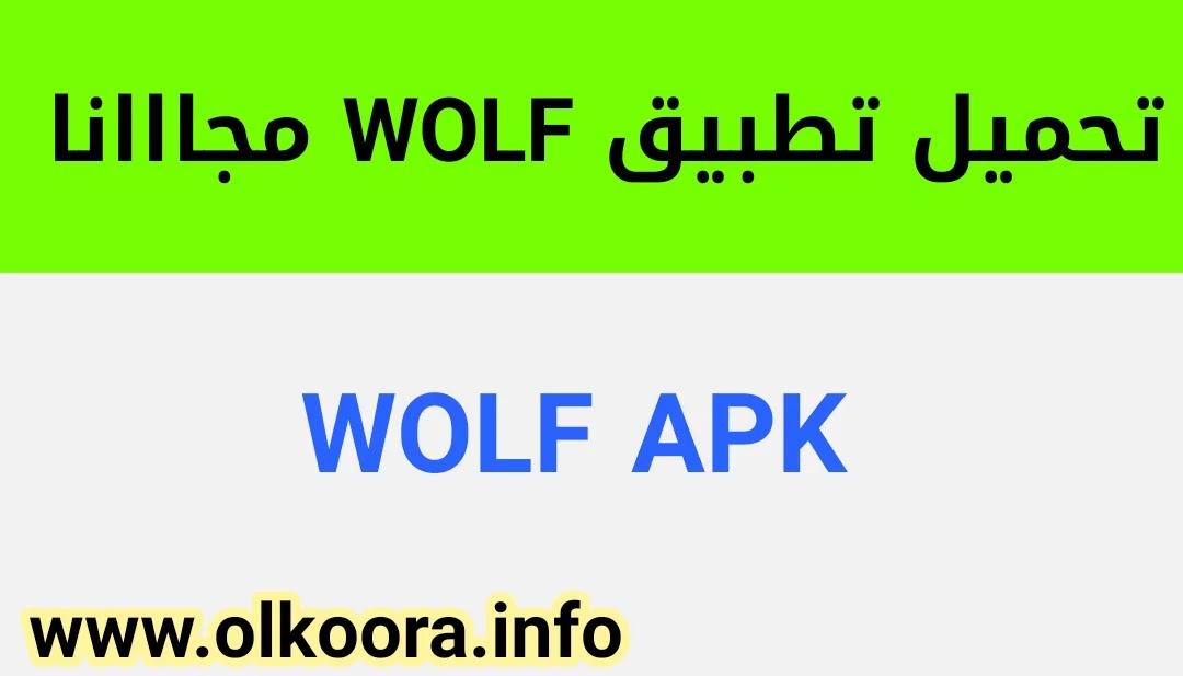 تحميل تطبيق WOLF _ تنزيل تطبيق ولف للأندرويد و للأيفون