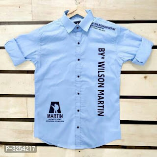 Latest Cotton Uncolored Printed Casual Shirts For Men