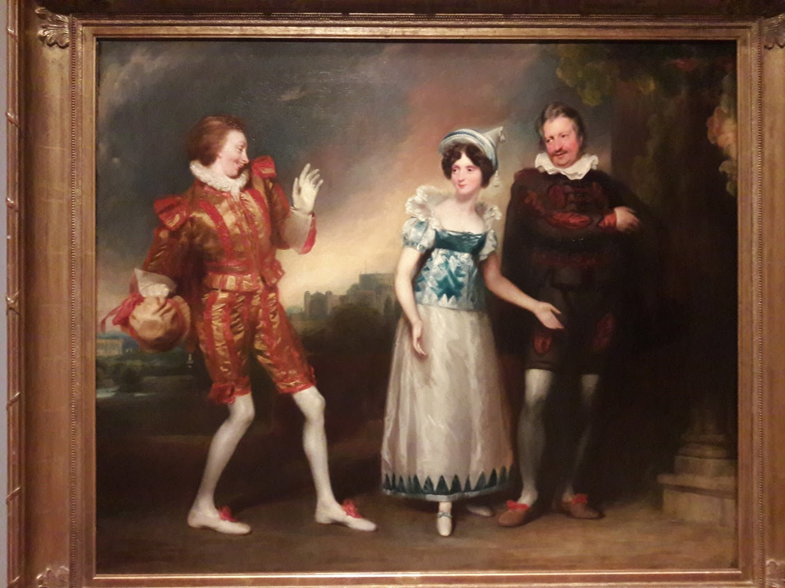 Another I Especially Liked Was Master Page, Anne Page, And Slender, By John  Downman, Ara This Painting, Also From About 1810, Depicts A Scene From One  Of