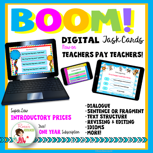 Boom Learning Cards Are Now on Teachers Pay Teachers!