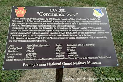 EC-130E Commando Solo Military Plane at Fort Indiantown Gap in Pennsylvania