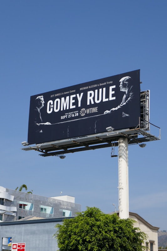 Comey Rule series premiere billboard