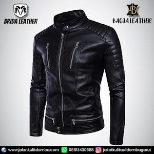 Jual Jaket Kulit Asli Garut Pria Domba Original Brida Leather B45   WA 08813430588