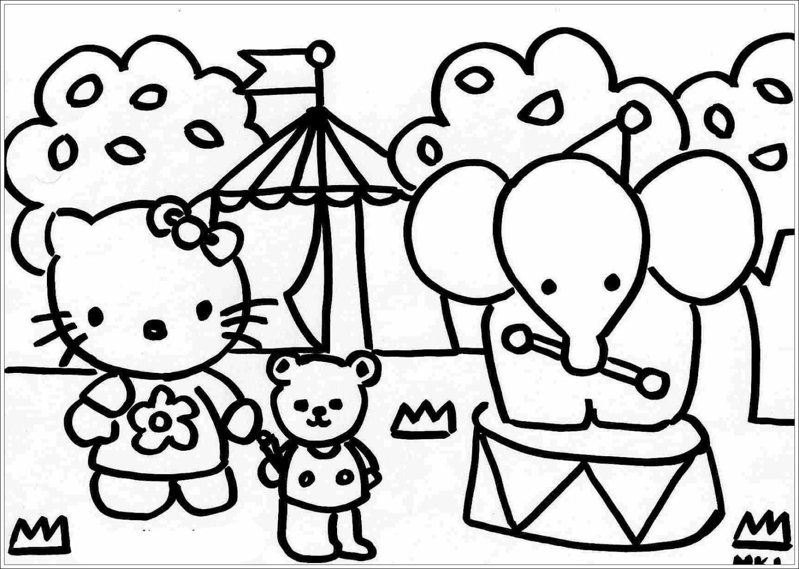 26 Ausmalbilder Hello Kitty