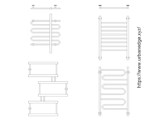 Heated towel rail free cad blocks download