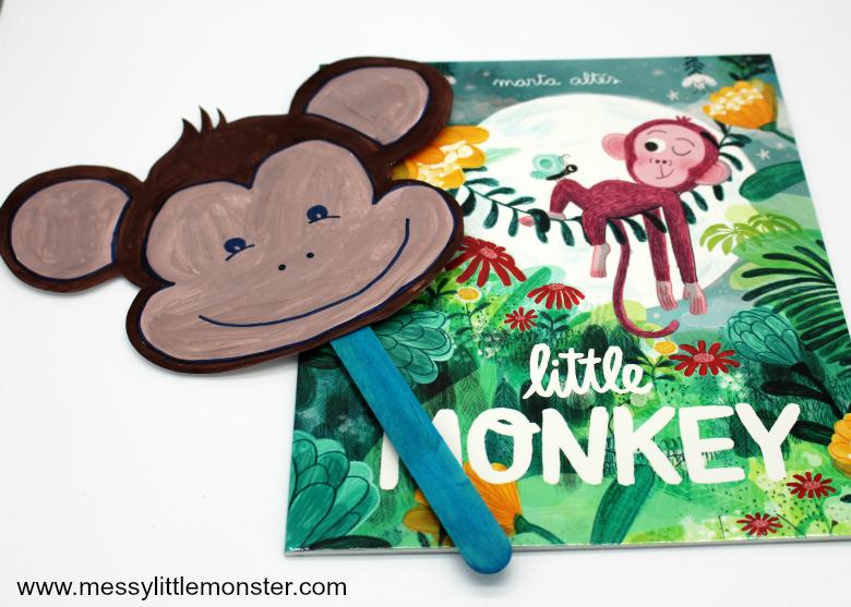 fathers fingerprint monkey craft gotteamdesigns