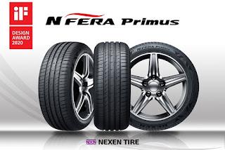 N'Fera Primus, neumático UHP de Nexen Tire, premiado con el IF Design Award