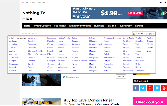Top Secret to Boosts your Website Traffic 2x Faster by adding - Translation Widget