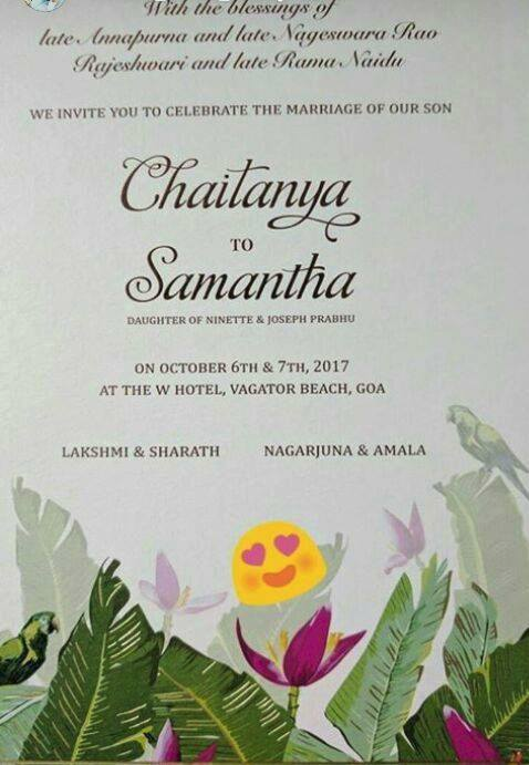 Samantha fans spot the wedding invitation is fake says naga chaitanya and wedding date as 6th and 7th october has been doing rounds on the social media and fans have been sharing the invitation post in a very joy stopboris Gallery