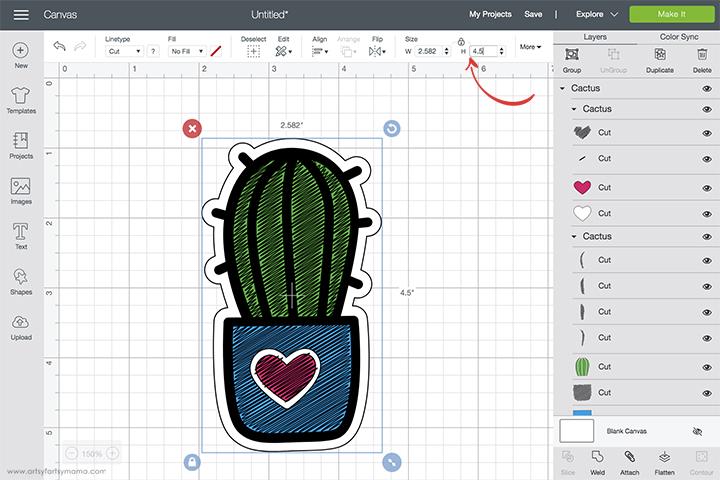 Cricut Foil Cactus Design Space