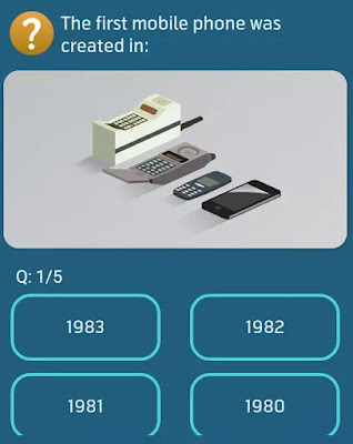 The first mobile phone was created in?