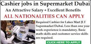 Cashier/Customer Service Executive Job Vacancy in Consumer Goods Company Dubai