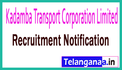 Kadamba Transport Corporation Limited KTCL Recruitment 2018