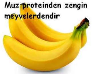 Proteinden zengin meyveler