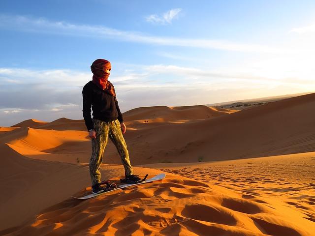 Enjoy the sands in the Sahara Desert