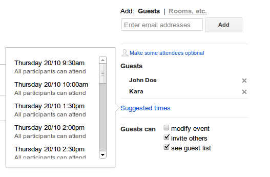 The Catalyst Calendar.Suggested Times In Google Calendar Catalyst Website