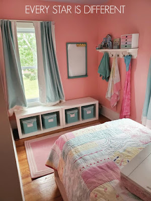 A Minimalist Montessori Preteen Girl's Bedroom Storage