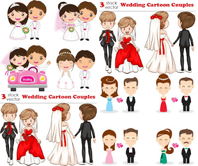 تحميل فيكتور زفاف wedding vectors