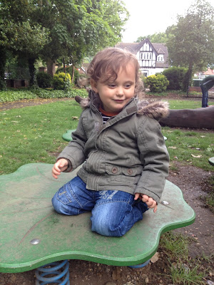 Day 156 of The 366 Project, bouncing, park, toddler