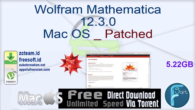 Wolfram Mathematica 12.3.0 Mac OS _ Patched_ ZcTeam.id