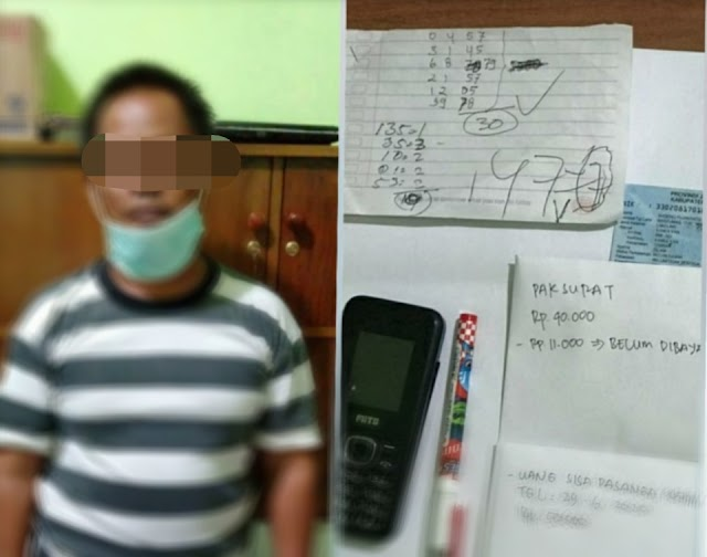 Polresta Banyumas Tangkap Penjual Togel di Wilayah Kecamatan Tambak