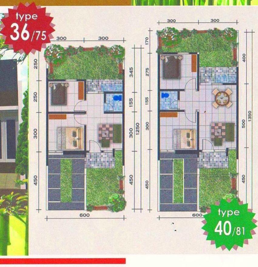 gambar denah rumah luas tanah 400m 3