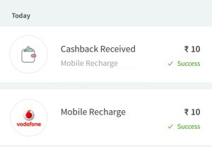 Freecharge Loot for All User-Get Rs 10 Cashback On Recharge Of Rs 10 + Proof