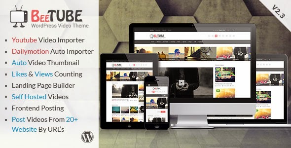 BeeTube V2.3 - Video Responsive WordPress Theme ~ THEMES ONE