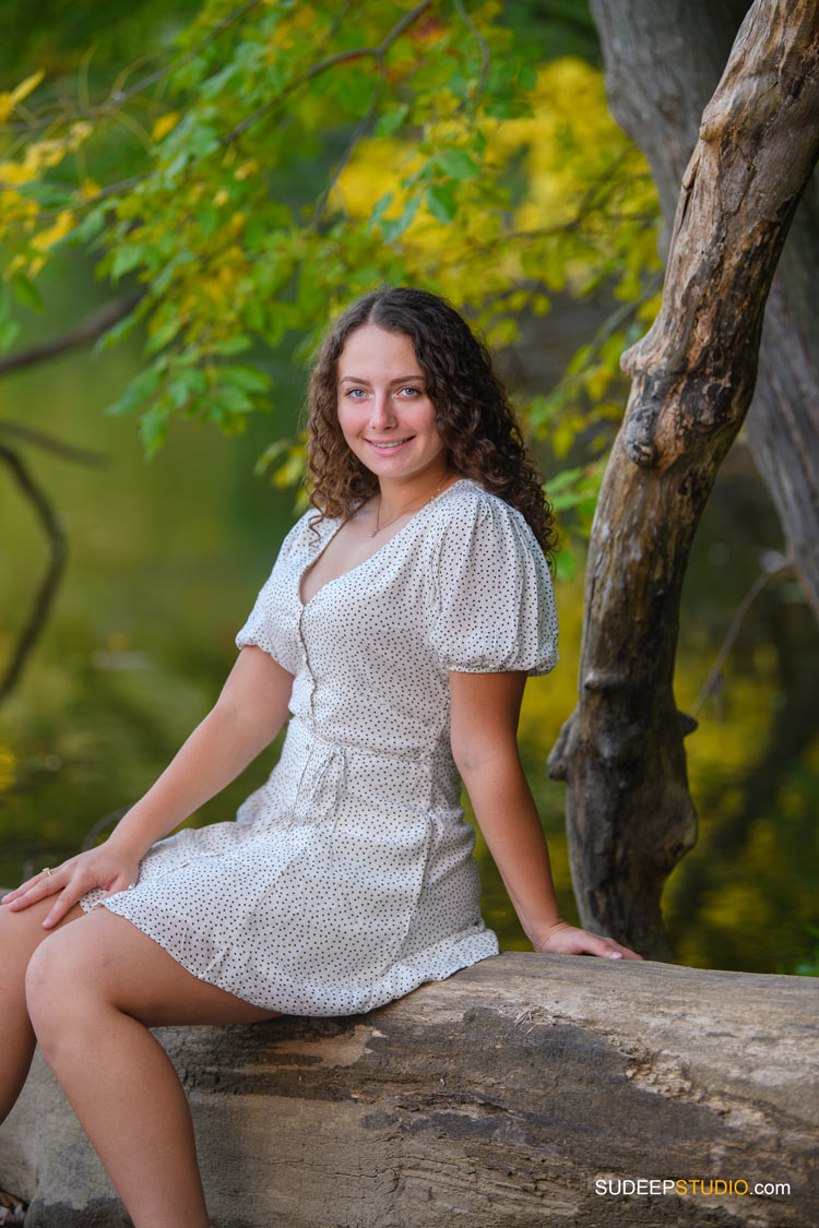 Pioneer High School Girls Senior Portrait in Nature Woods Forest by SudeepStudio.com Ann Arbor Senior Pictures Photographer