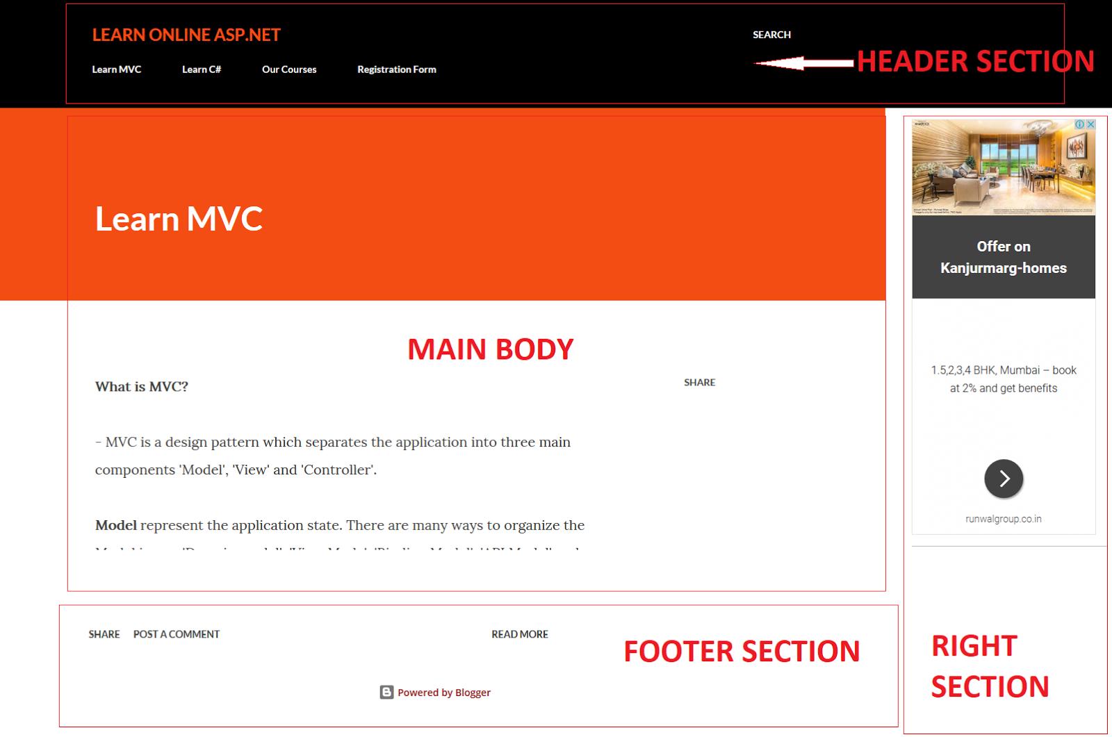 Layout in ASP.NET MVC