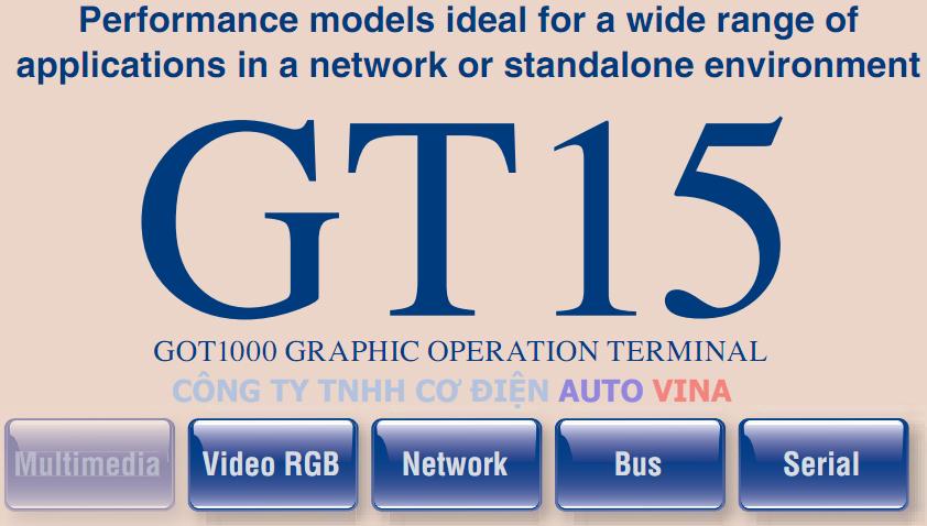 Đại lý bán màn hình Mitsubishi GT15 - GOT1000 Series