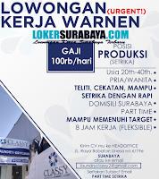 Jobs Vacansy at Classy Laundry Surabaya Terbaru Desember 2019