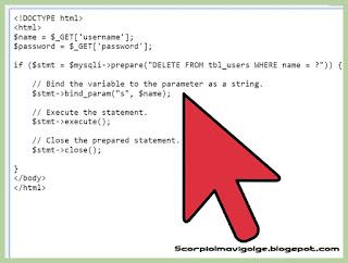 SQL Acığı Olan Siteyi Güvene Alma