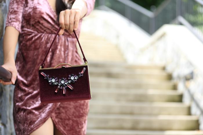 cute velvet bags