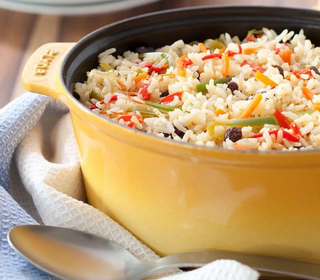 Receita Almoço de páscoa arroz à grega