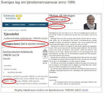 Sveriges lag om tjänsteansvar, motion Ju633