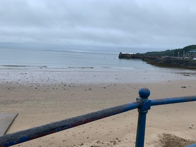 Saundersfoot beach from the car park