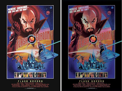 Flash Gordon Movie Poster Screen Print by Lawrence Noble x Bottleneck Gallery x Galactic Gallery